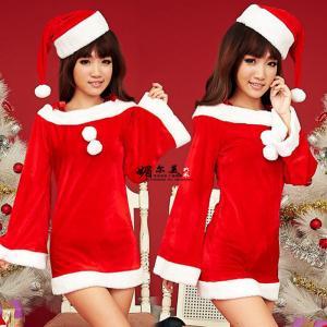 ชุดคริสมาสต์ สาวซานตี้ คอปาดเซ็กซี่ได้ไม่โป๊ะ ราคาถูก