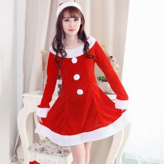 ชุดคริสมาสต์ แซนตี้สาวสวยหวาน พร้อมถุงใส่ของน่ารัก