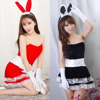 ชุดคอสเพลย์กระต่าย แสนสวย ผ้ายืดใส่สบาย ราคาถูก