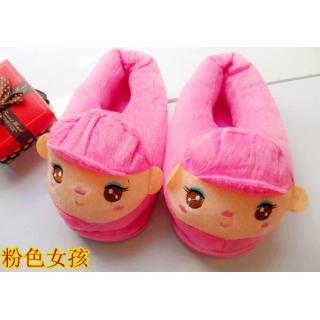 รองเท้าใส่ในบ้าน ลายการ์ตูน สาวน้อยน่ารัก (สีชมพู)