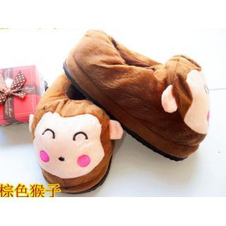 รองเท้าใส่ในบ้าน ลายการ์ตูน ลิงน้อย (ใหม่-1)