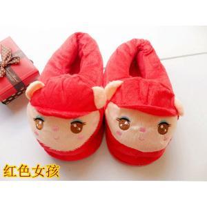 รองเท้าใส่ในบ้าน ลายการ์ตูน สาวน้อยน่ารัก (สีแดง)