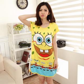 ชุดนอนน่ารัก ลายการ์ตูน SpongeBob ลายลิขสิทธิ์