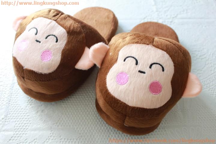 รองเท้าใส่ในบ้าน ลายเจ้าลิงน้อยน่ารัก