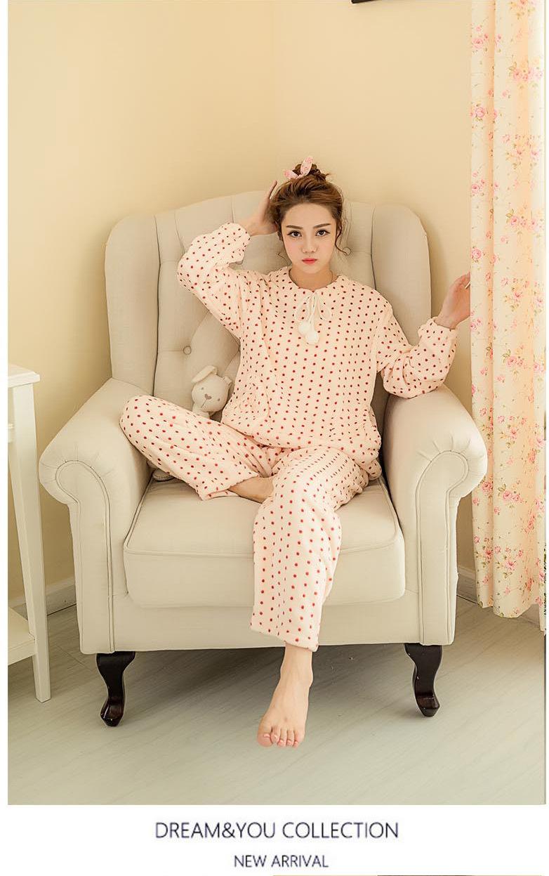 ชุดนอนเกาหลี ฤดูหนาว