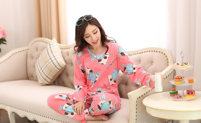 ชุดนอนแขนยาว เกาหลี