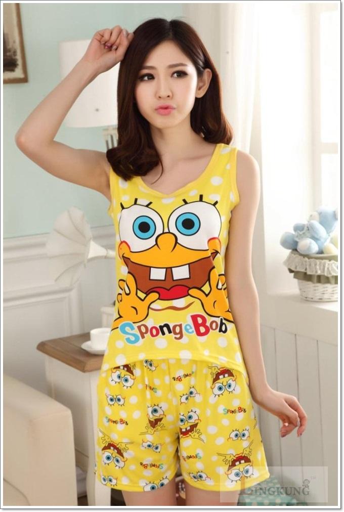ชุดนอนเสื้อกล้าม SpongeBob ราคาถูกมั้กๆ