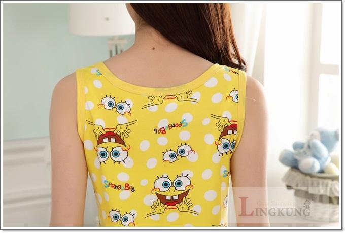 ชุดนอนเสื้อกล้าม SpongeBob สำหรับผู้หญิง โดนใจ