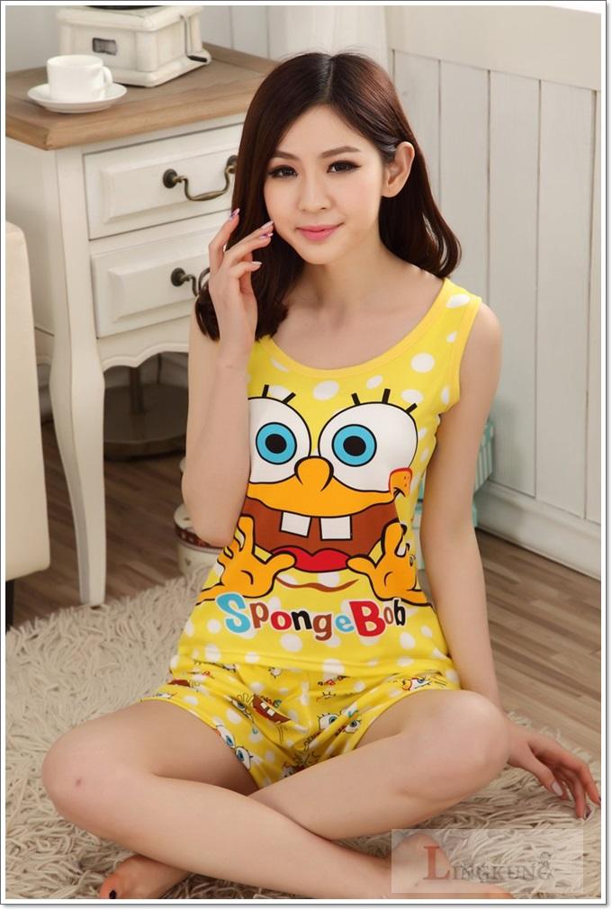 ชุดนอนเสื้อกล้าม SpongeBob