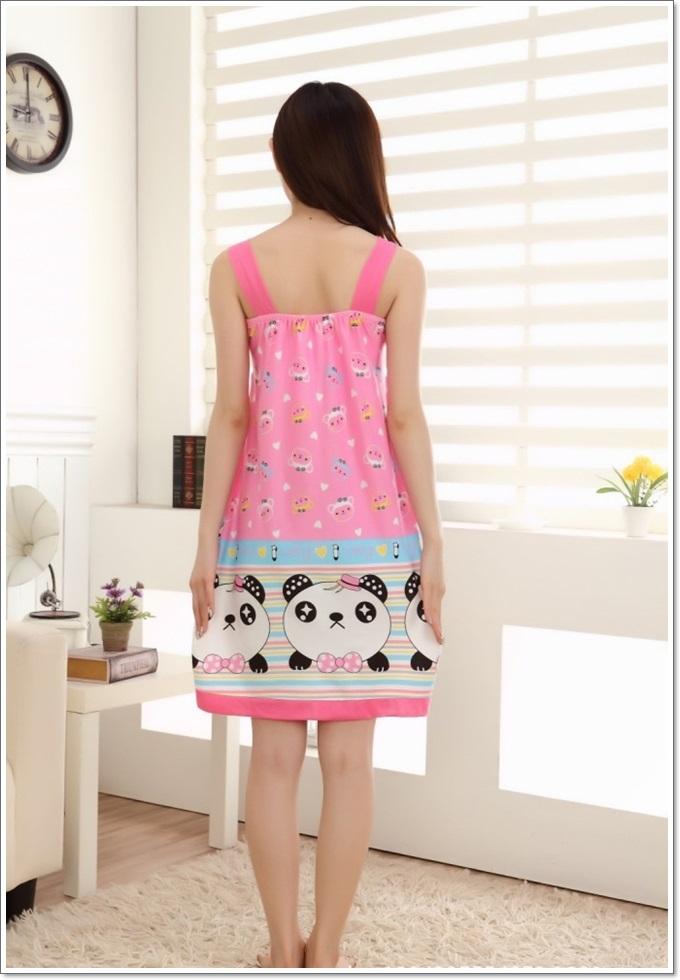 ชุดนอนกระโปรงเดรสน่ารัก น้องแพนด้า สไตล์เกาหลี