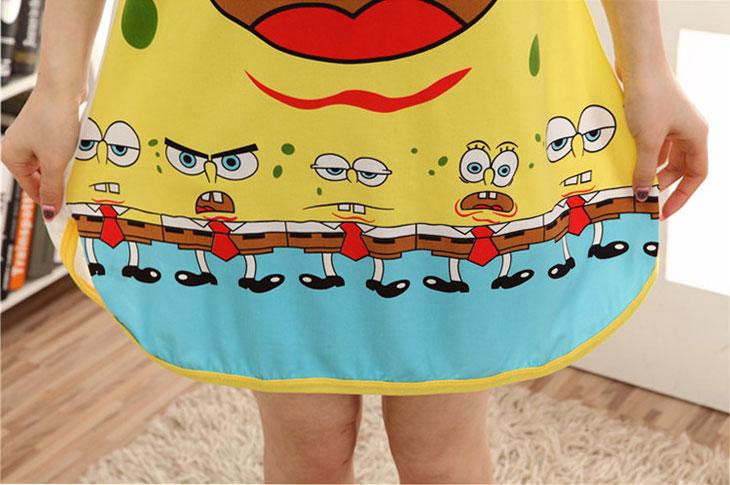 ชุดนอนน่ารัก ลายการ์ตูน SpongeBob