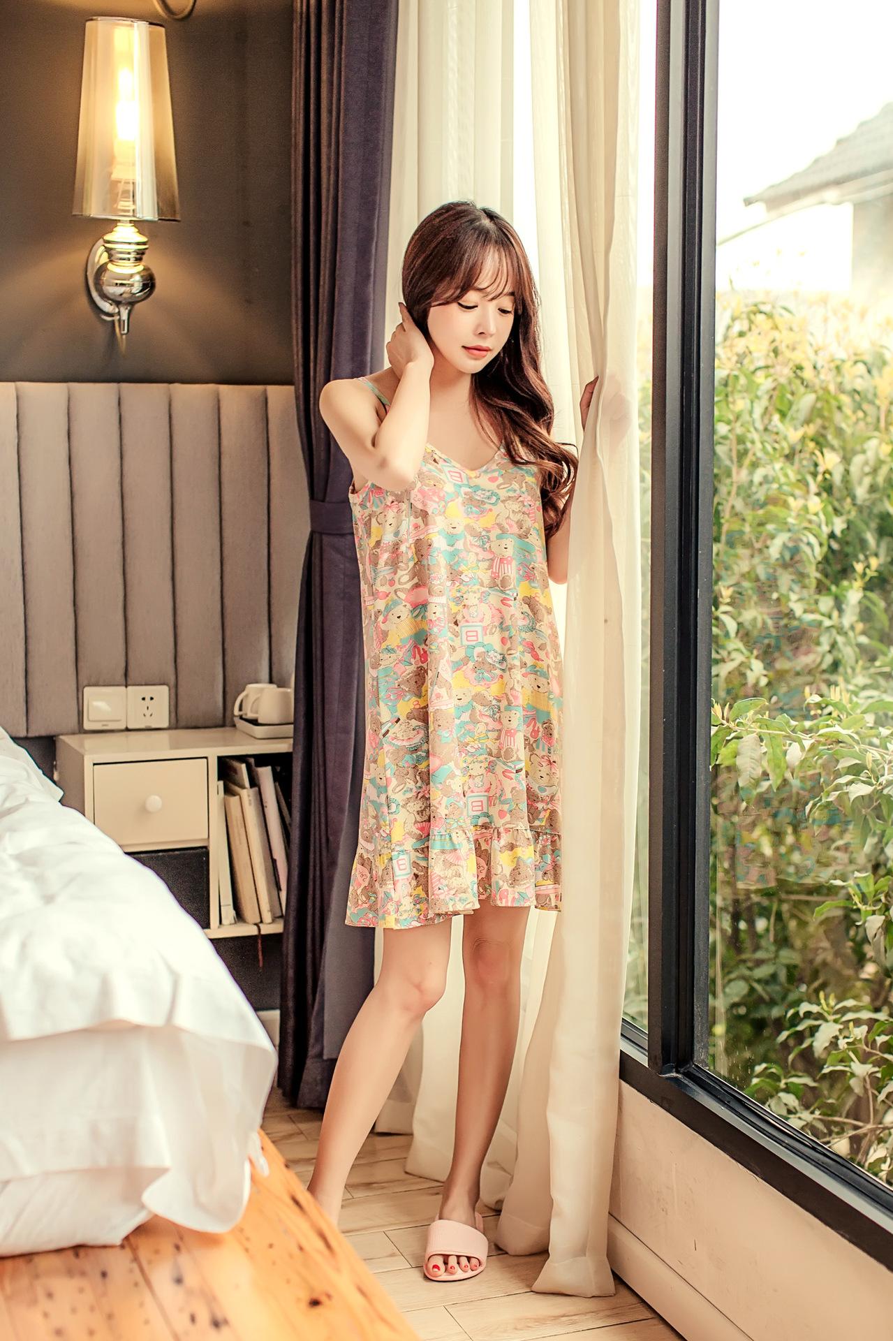 ชุดนอนน่ารัก เดรสเกาหลี