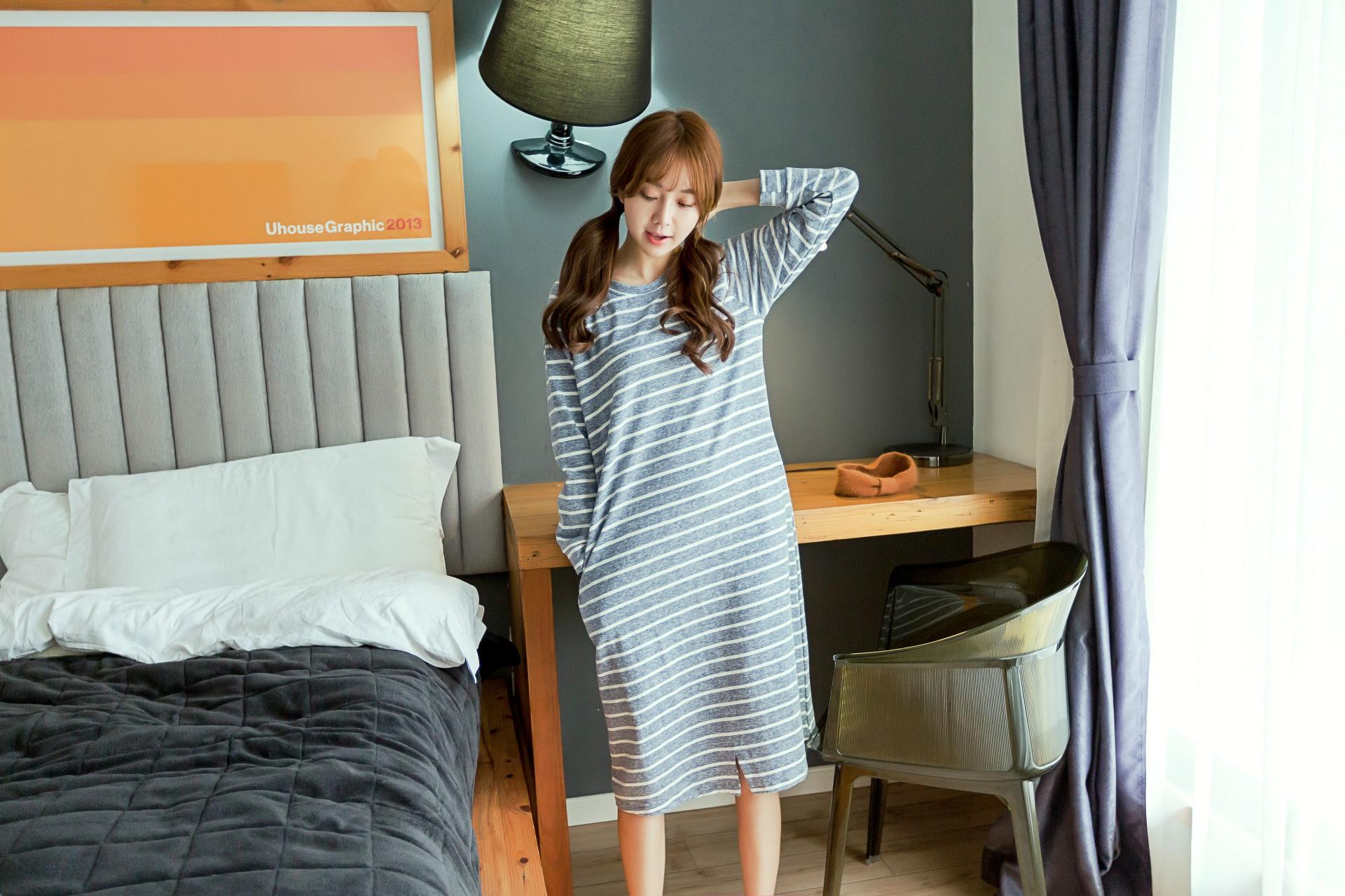 ชุดนอนกระโปรงสไตล์เกาหลี