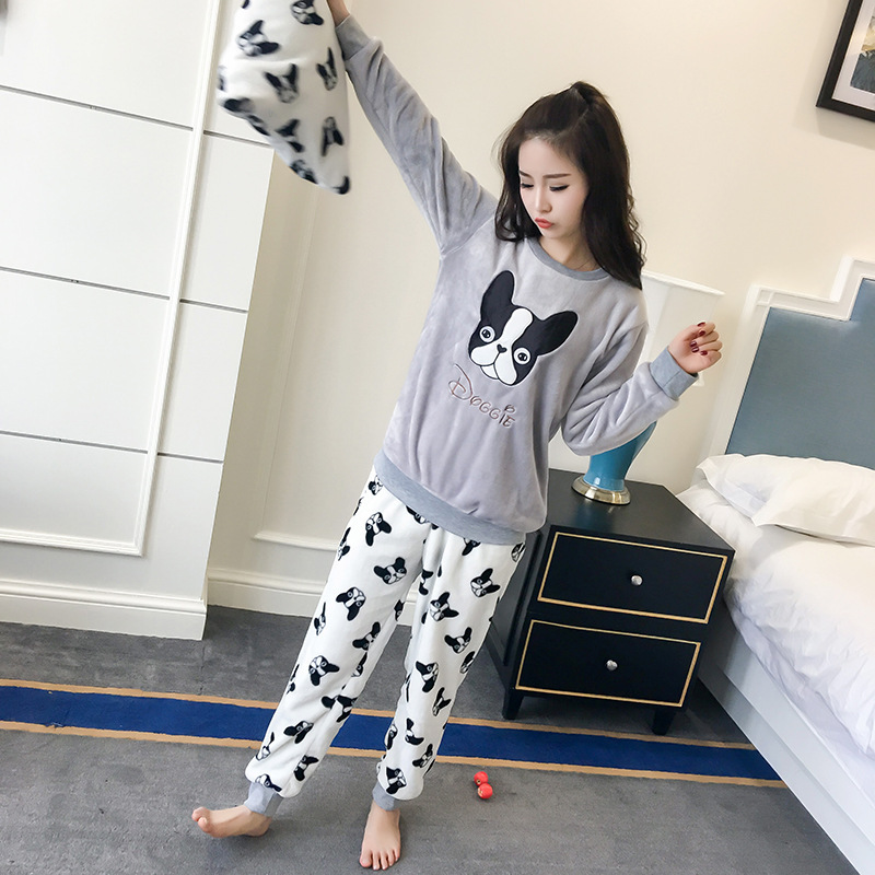 ชุดนอนน่ารัก ผู้หญิง สไตล์เกาหลี