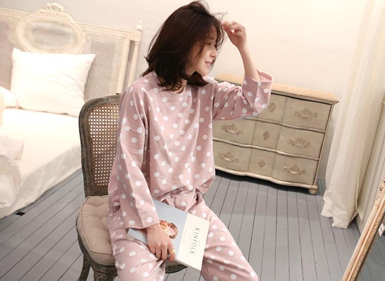 ชุดนอนแขนยาว สไตล์เกาหลี