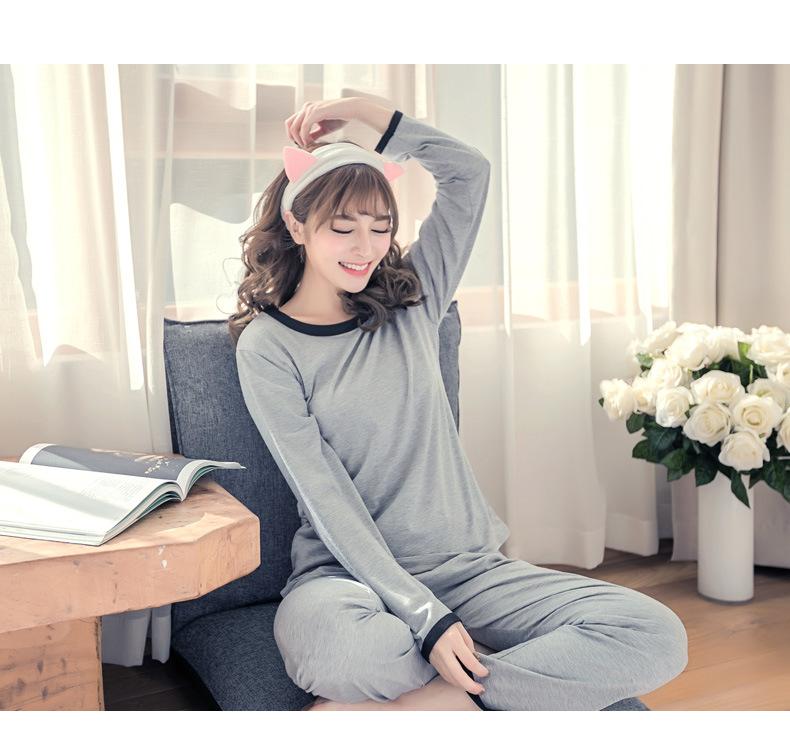 ชุดนอนน่ารัก สไตล์เกาหลี กางเกงนอนขายาว