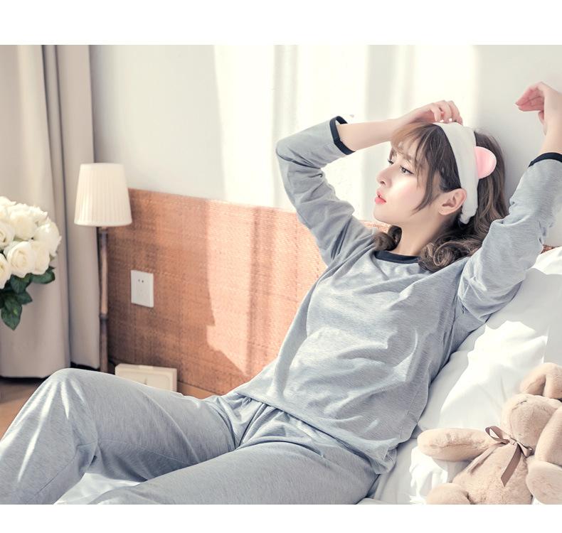 ชุดนอนน่ารัก สไตล์เกาหลี แขนยาวขายาว