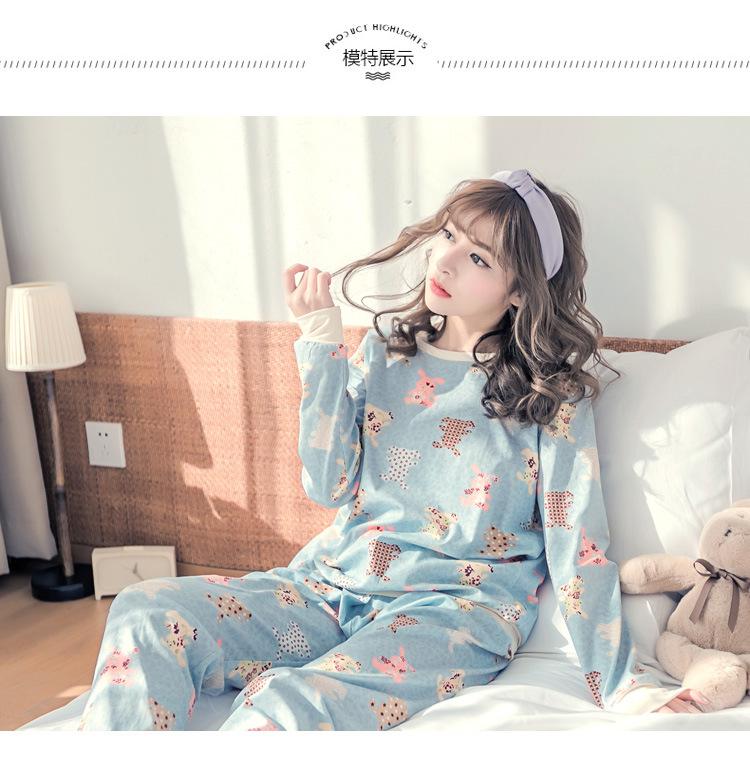 ชุดนอนน่ารัก สำหรับผู้หญิง สไตล์เกาหลี