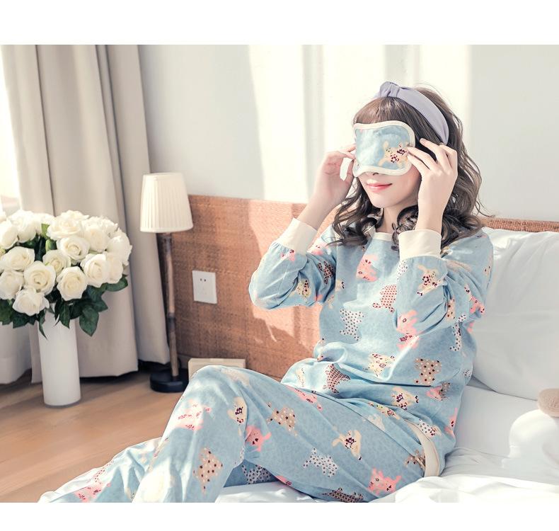 ชุดนอนน่ารัก สำหรับผู้หญิง สไตล์เกาหลี พร้อมส่ง