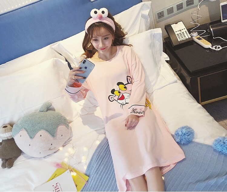 ชุดนอนกระโปรงเกาหลี
