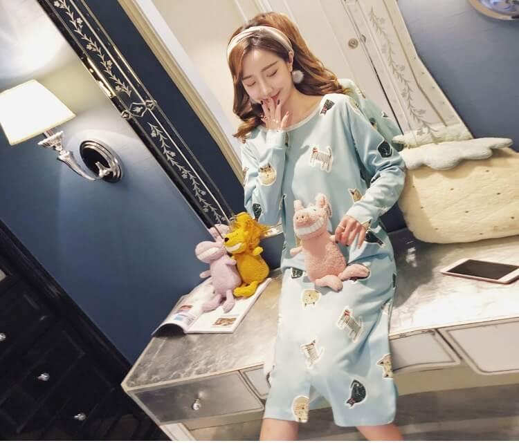 ชุดนอนกระโปรง เกาหลี