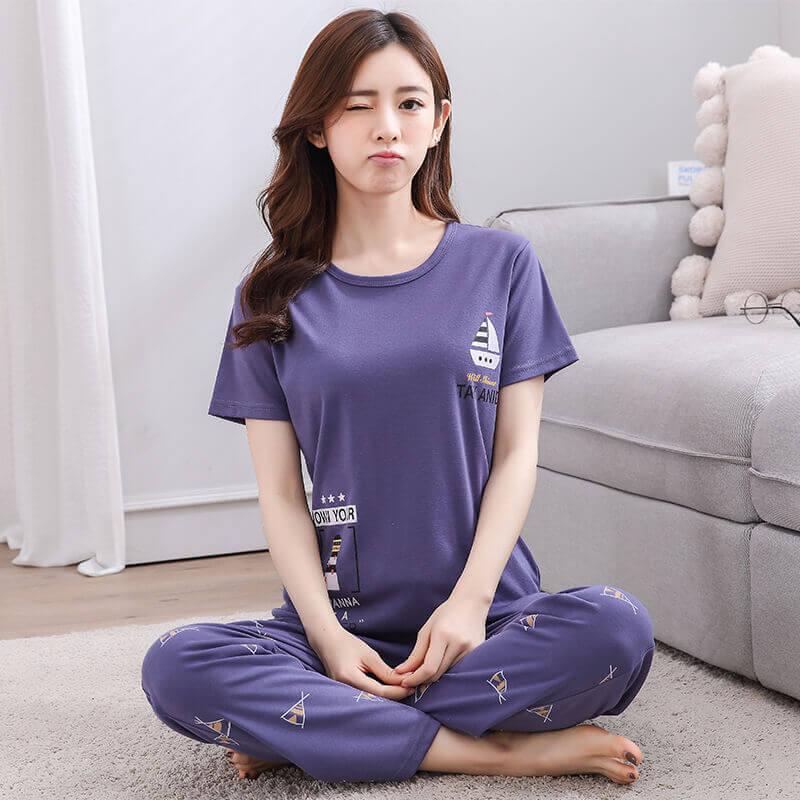ชุดนอนผู้หญิง แขนสั้น ขายาว