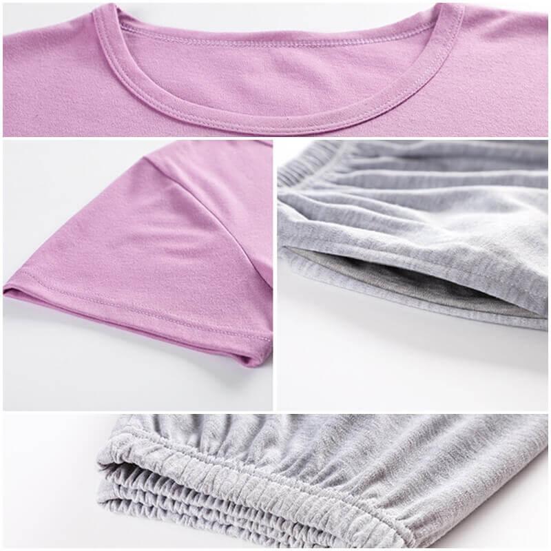 ชุดนอนผ้าคอตตอน แขนสั้น