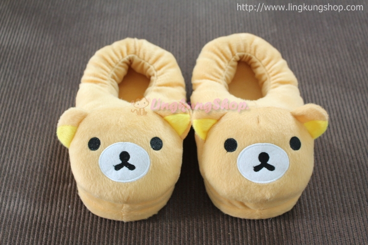 รองเท้าใส่ในบ้าน ลายหมีเรียวคุมะ
