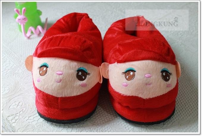 รองเท้าใส่ในบ้าน ลายการ์ตูน สาวน้อยน่ารัก