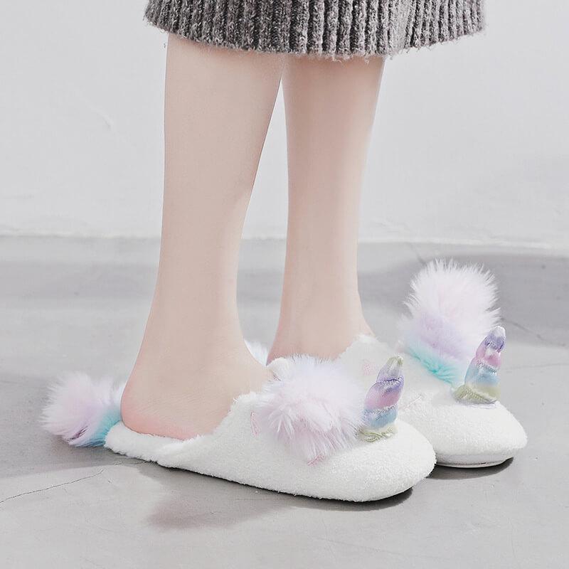 รองเท้า Slipper ใส่ในบ้าน ม้ายูนิคอร์น