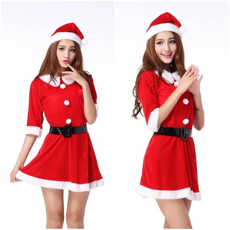 ชุดกระโปรง ซานต้า