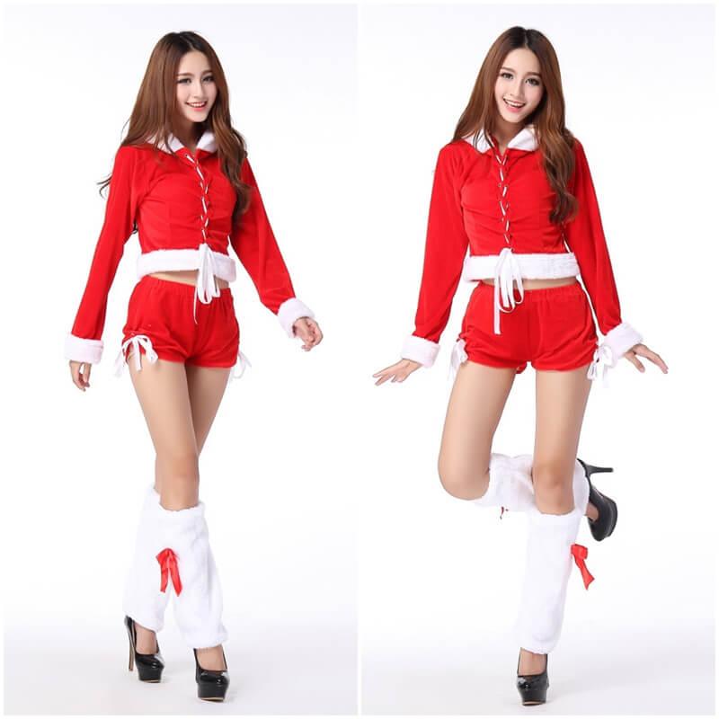 ชุดซานต้า ผู้หญิง แบบกางเกง