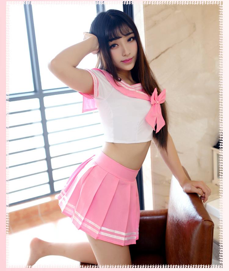 ชุดคอสเพลย์นักเรียน เซ็กซี่ สีชมพู