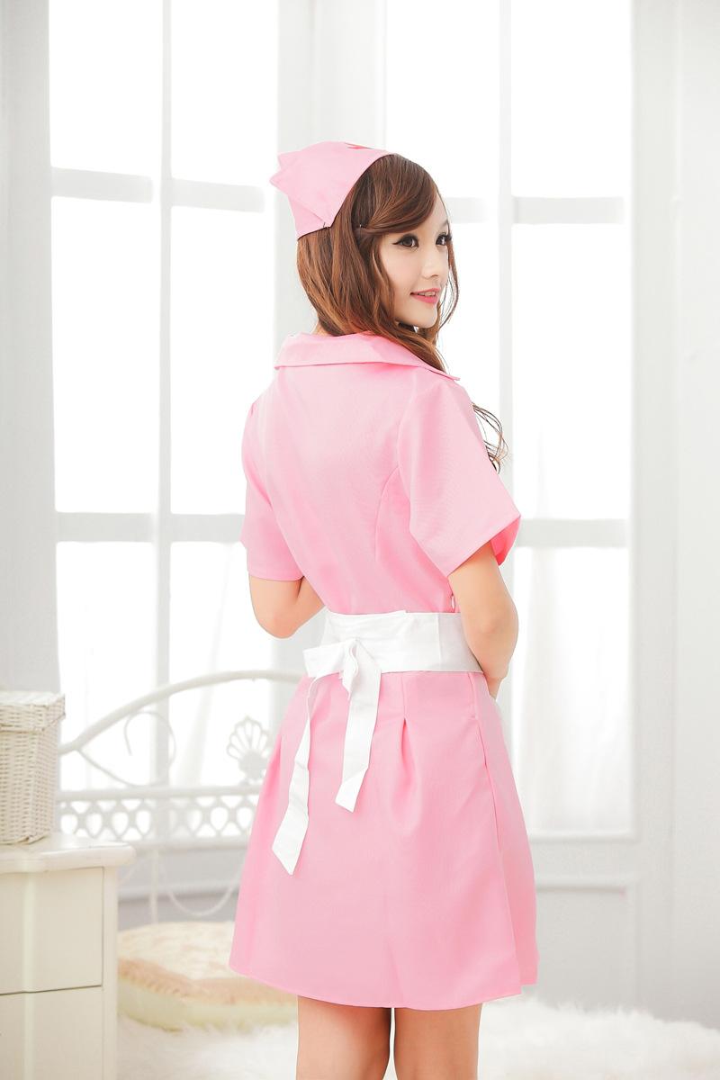 ชุดคอสเพลย์ พยาบาล สีชมพู