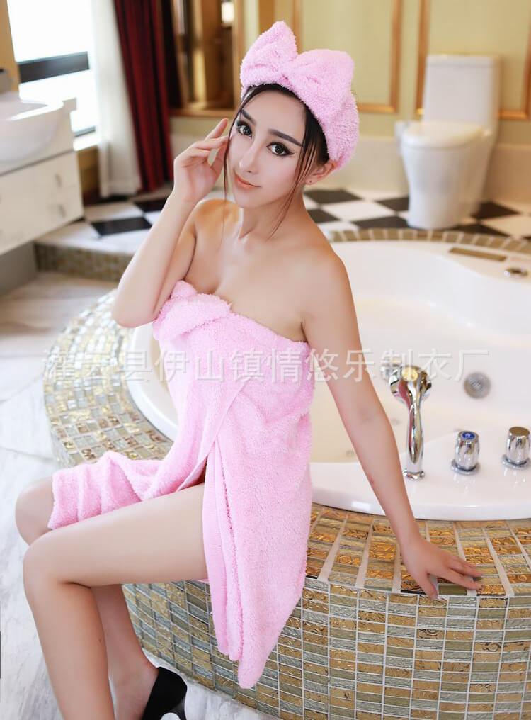 ผ้าขนหนูคลุมอาบน้ำ